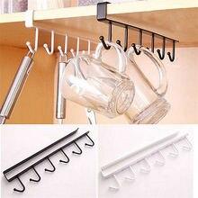 6 ganchos portavasos colgar armario de cocina bajo estante organizador gancho