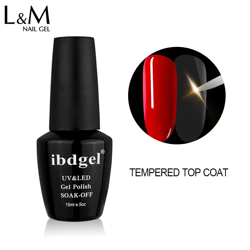 2 sztuki IBDGEL Brand New Nails Polish Top It Soak Off Primer 1 Matte Tempered Top coat Base Coat Gel