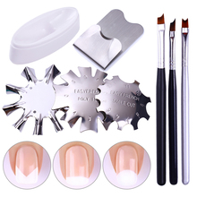 french Line Edge  Cutter Nail Stencil Edge Trimmer Clipper Styling Forms  Accessories Nail Art Tools