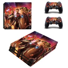 Avengers Endgame Captain America PS4 Pro Skin Sticker For Sony PlayStation 4 Pro Console and Controller PS4 Pro Sticker Decal