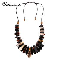 Necklaces Pendants Statement Long Leather Necklace Limited Fashion Jewelry Collier Maxi Choker Colar Kolye Collares Women
