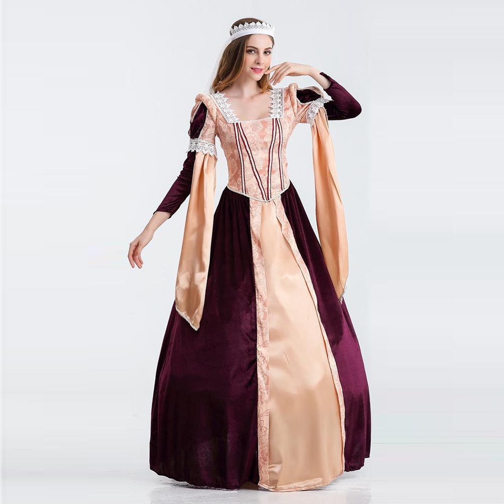 Women\'s Renaissance Dress Elegant Mediaval Maiden Costume Deluxe ...