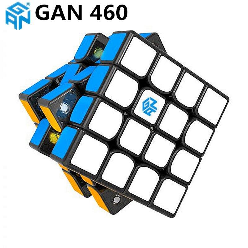 GAN460 M 4x4x4 puzzle magnetyczne magiczna kostka GAN 460 profesjonalne 4 warstwy magnesy prędkość Cubo Magico GANS zabawki dla dzieci w Magiczne kostki od Zabawki i hobby na  Grupa 3
