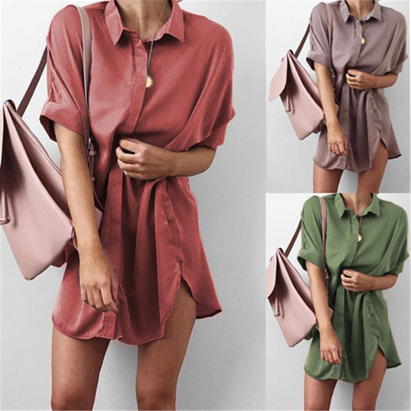 4-Colors-Short-Sleeve-Maternity-V-neck-chiffon-blouse-summer-fashion-casual-solid-Color-shirts-loose (3)