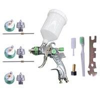 HVLP Paint Spray Gun Set 1.4mm 1.7mm 2.0mm Steel Nozzle Airbrush for Car Painting Furnitures DIY Kit Car Auto Repair Tools