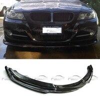Спереди Splittter для HAMANN H стиль стайлинга автомобилей углеродного волокна передний бампер спойлер для BMW E90 LCI 2008 2011