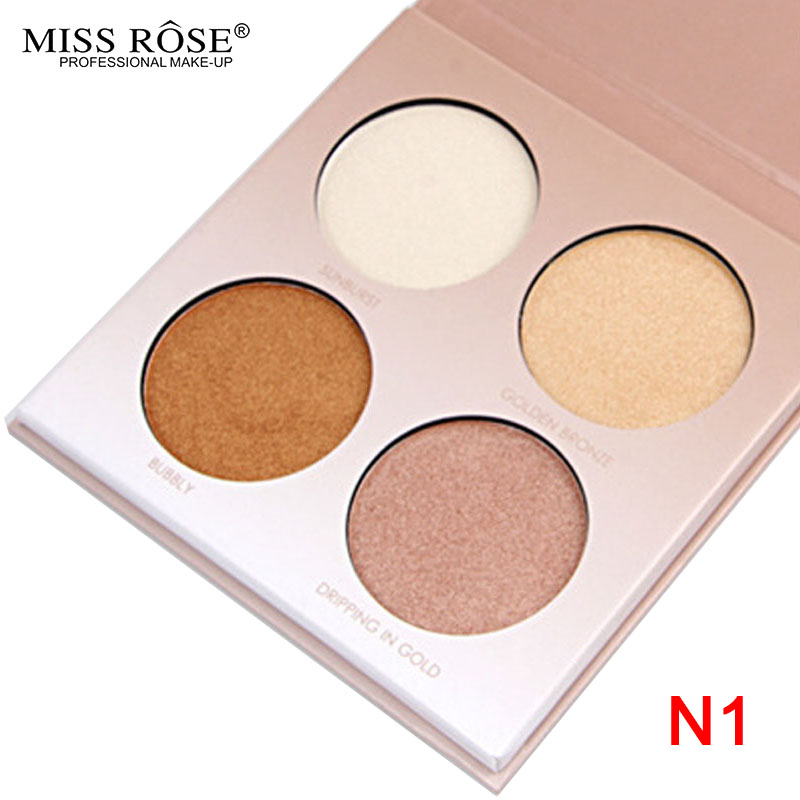 Miss Rose palette Glow Kit  Highlighter Palette Concealer Pro Conceal Contour Bronzer primer Maquiagem Makeup Powder palette  N1