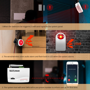 Image 2 - FUERS ไร้สาย GSM Burglar สมาร์ทหน้าแรกโรงรถเซ็นเซอร์ตรวจจับการเคลื่อนไหวรัสเซีย/ภาษาอังกฤษ Voice Security อัตโนมัติ DIY ชุด