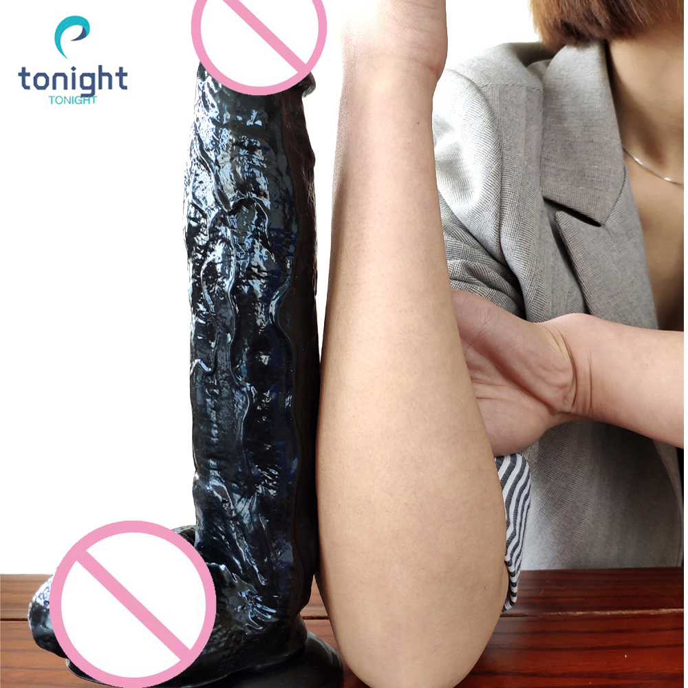 Big Black Dildos Realistic Gode Huge Horse Dildo Vibrators Female Large Penis Giant Sex Dildos Suction Cup Toys For Women 30cm