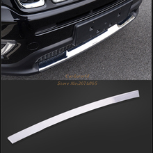 Front Down Grille Bumper Cover Bar Protector Trim For Jeep Compass Second Generation 2017 2018 Exterior ABS Chrome Car Accessori