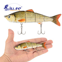 Купить с кэшбэком iLure 12cm 17.5g Fishing Lure 3D Eyes Wobbler Fish Lure Crankbait Swimbait Isca Artificial Bait With Hook Carp Pesca Bass Bait