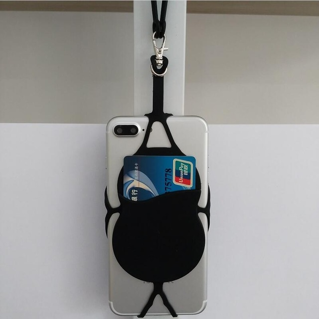 2 шт. Универсальный Цепочки и ожерелья ремешок pounch держатель для карт силиконовый чехол для телефона сумка для Note8 iphone X 7 8 плюс XIAOMI mi8 MAX2 mi6