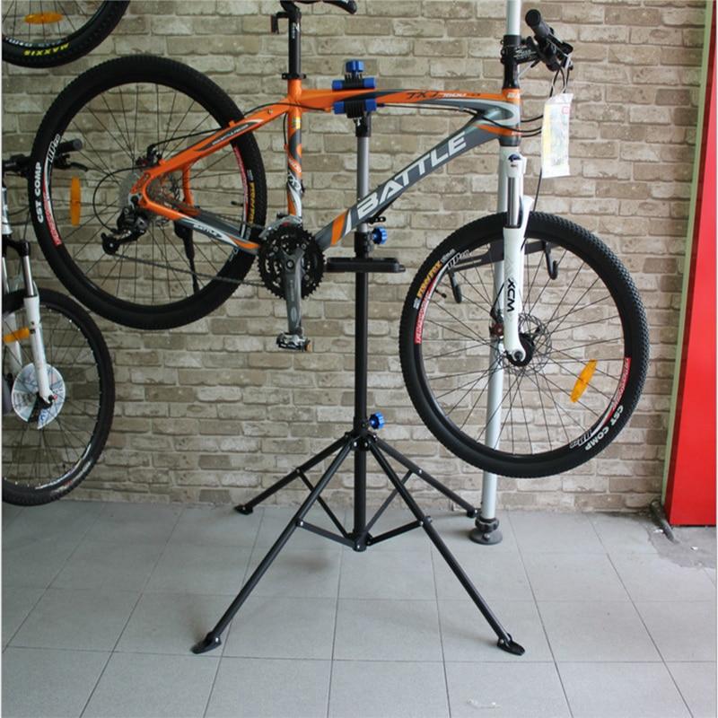 Bicicleta mountain bike bicicleta quadro de manutenção loja reparação quadro tripé pendurado reparação mesa limpeza