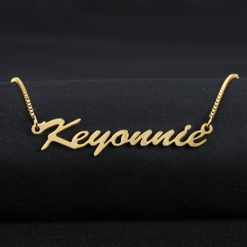Custom Jewelry Any Personalized Name Necklaces Women Men Silver Gold Rose Choker Necklace Engraved Handmade Bridesmaid Gift Idea