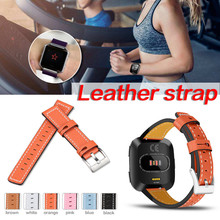 2018 New For Fitbit Versa Leather Strap for Fitbit Versa New Sports Color Leather font b