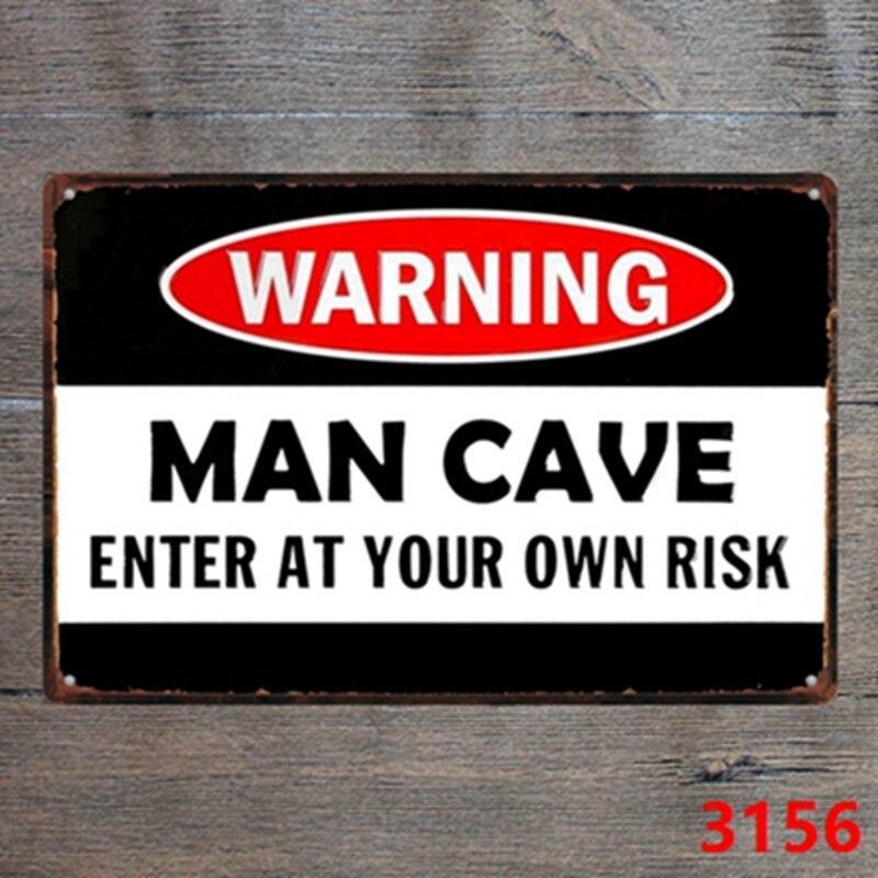 30x20 см Предупреждение человек пещера Винтаж Home Decor Олово Войти для декора стен металлический знак Винтаж Книги по искусству плакат ретро нал...