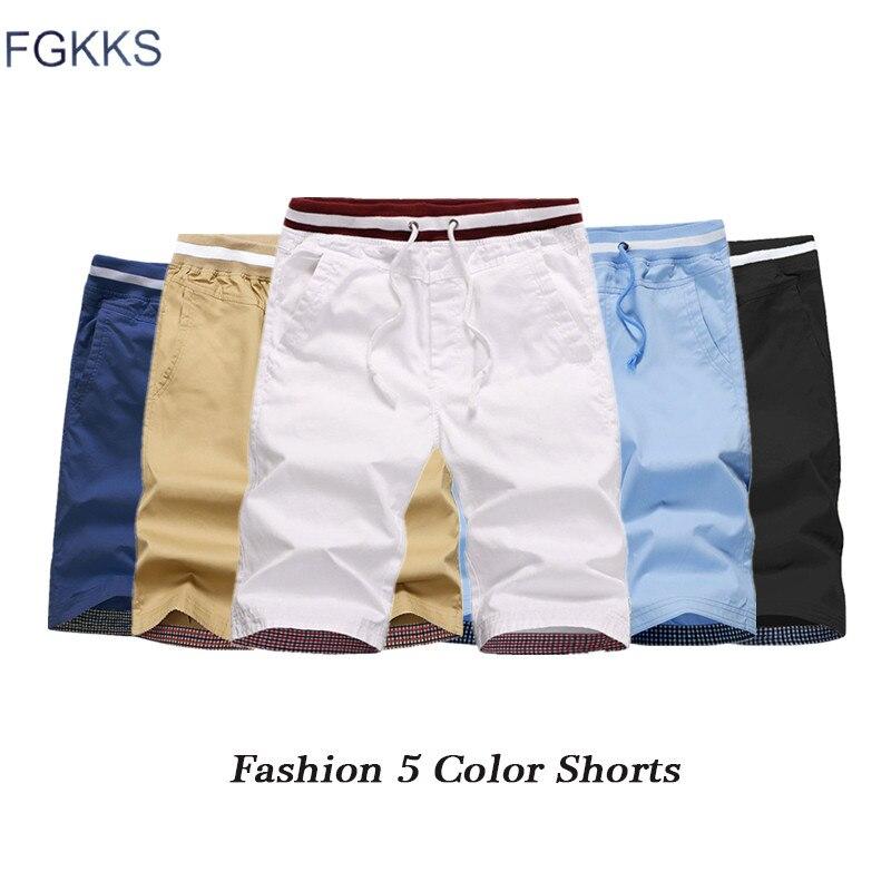 FGKKS Fashion Brand Men   Shorts   2019 Summer Men's Bermuda Solid Color   Shorts   Male Drawstring Pocket Male   Short   Bottom