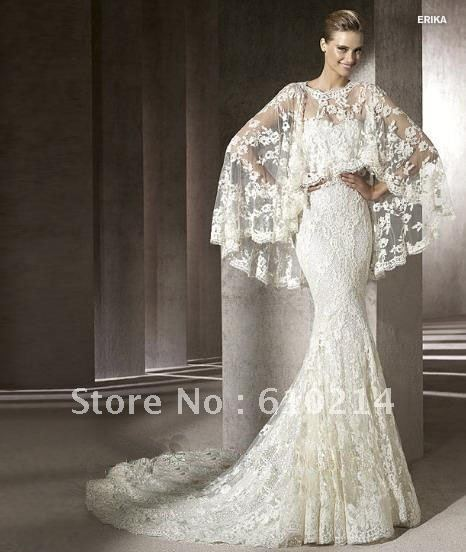 2017 Fashion Designer Lace Wedding Gown Mermaid Bridal Dress Best Ling