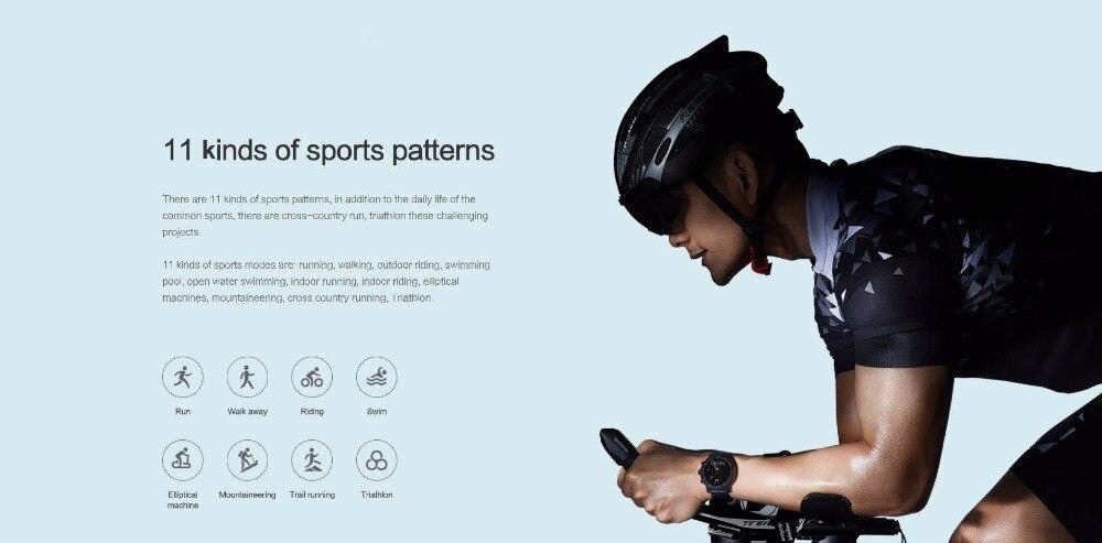 Nouvelle montre de sport intelligente Huami Amazfit Stratos 2 5ATM résistant à l'eau 1.34 '2.5d écran GPS première montre intelligente de natation - 2
