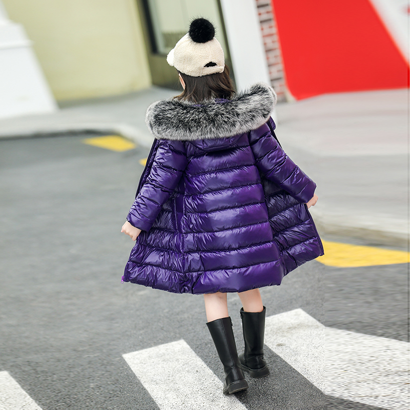 2018 New Baby Girls Boys Winter Coats Jacket Children Down Outerwear Warm Thick Outdoor Kids Fur Collar Snow Proof Coat Parkas