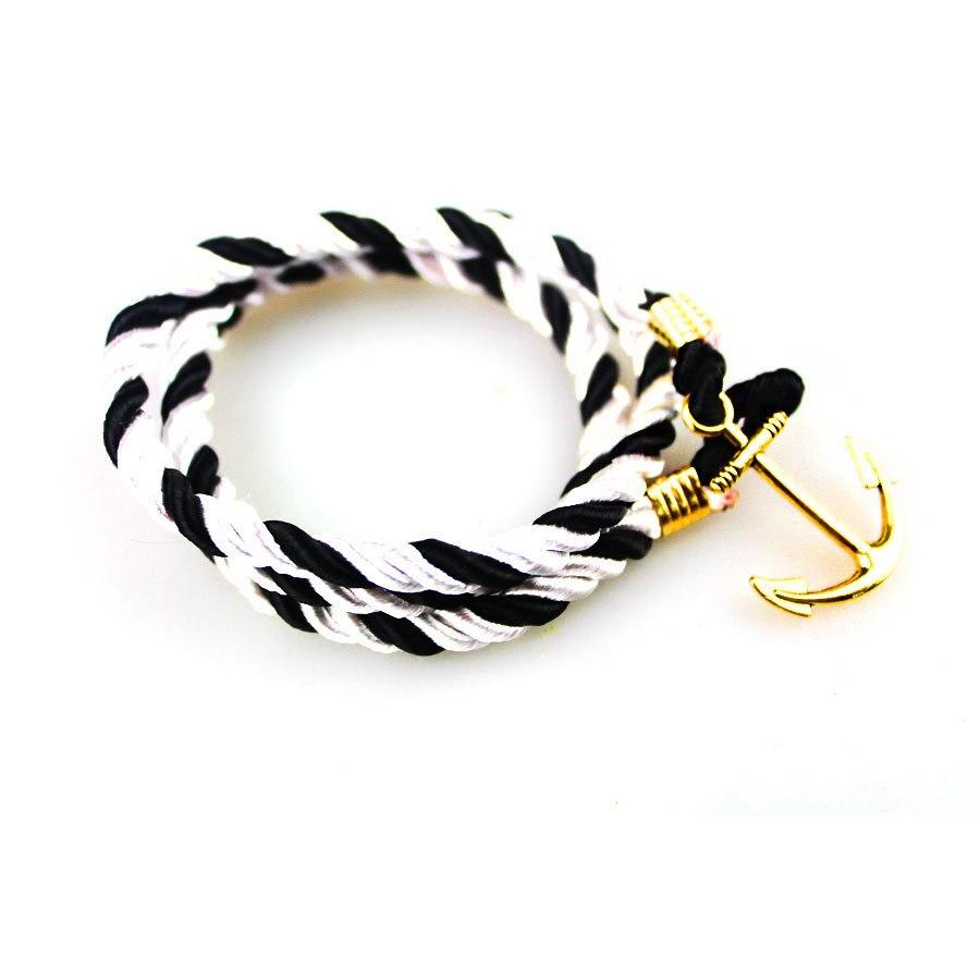 2015 Fashion Gold Anchor Pu Leather Bracelets Punk Best Friend Charm  Bracelets For Women Men Fashion