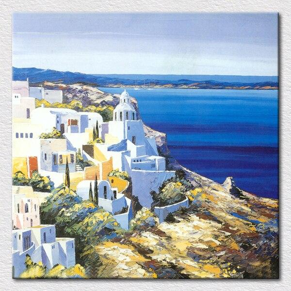 qualit toile peinture belle grec paysage peinture l 39 huile peinture de impression peinture l. Black Bedroom Furniture Sets. Home Design Ideas