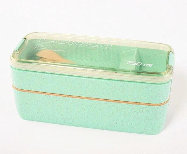 Green Cheap bento boxes 304 stainless 5c6479e2ed5ee