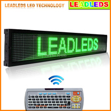 LEADLEDS Car Display LED Green Programmable 40″ X 6.3″ Scrolling LED Sign High Bright LED Advertising Screen Display Outdoor