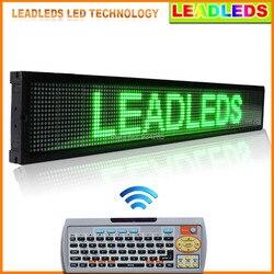 LEADLEDS samochód wyświetlacz LED zielony programowalny 40