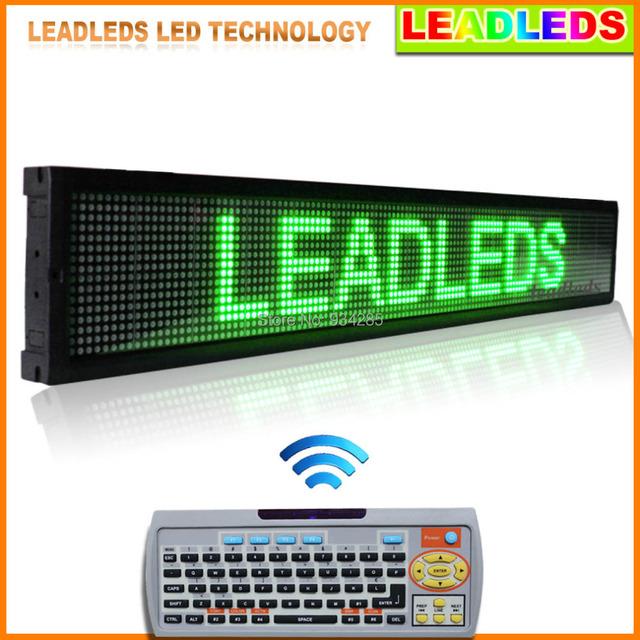 """Leadleds Programável Verde 40 """"X 6.3"""" Scrolling LED Sinal com o Pc Software de Acesso Remoto e Teclado"""