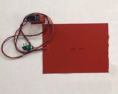 ФОТО 100x100mm 30W 220V Silicon heater LCD Screen Separator with Digital thermostat Electrical Wires