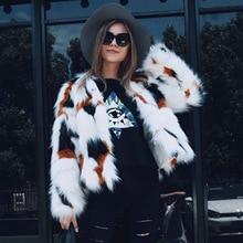 De moda de mujer de piel de zorro abrigos de invierno nueva longitud Regular mujer Abrigos de piel sintética cálido Artificial abrigos de piel de las mujeres de piel falsa outwears