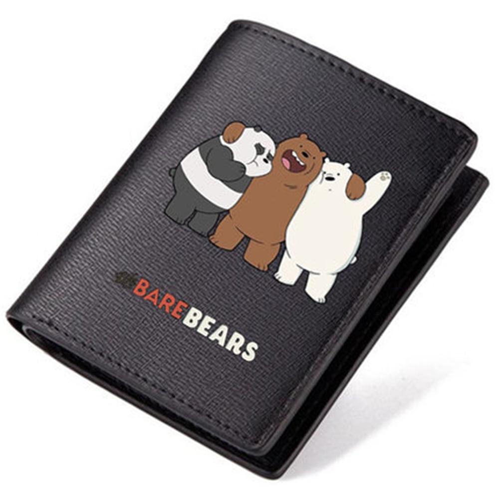We Bare Bears Cartoon Grizzly Ice Bear Cartoon Network The Three Wallet Long Short Cute Purse PU Wallets grizzly bear rock