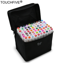 TouchFIVE Conjunto de rotuladores de doble punta, Set de 30/40/60/80/168 colores, marcadores a base de Alcohol oleoso para dibujo artístico y Manga