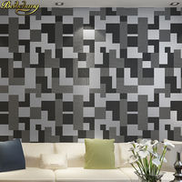 Simple Modern 3D Mosaic Living Room TV Background Wall Paper Thicker Non Woven Fashion Bedroom Bedside
