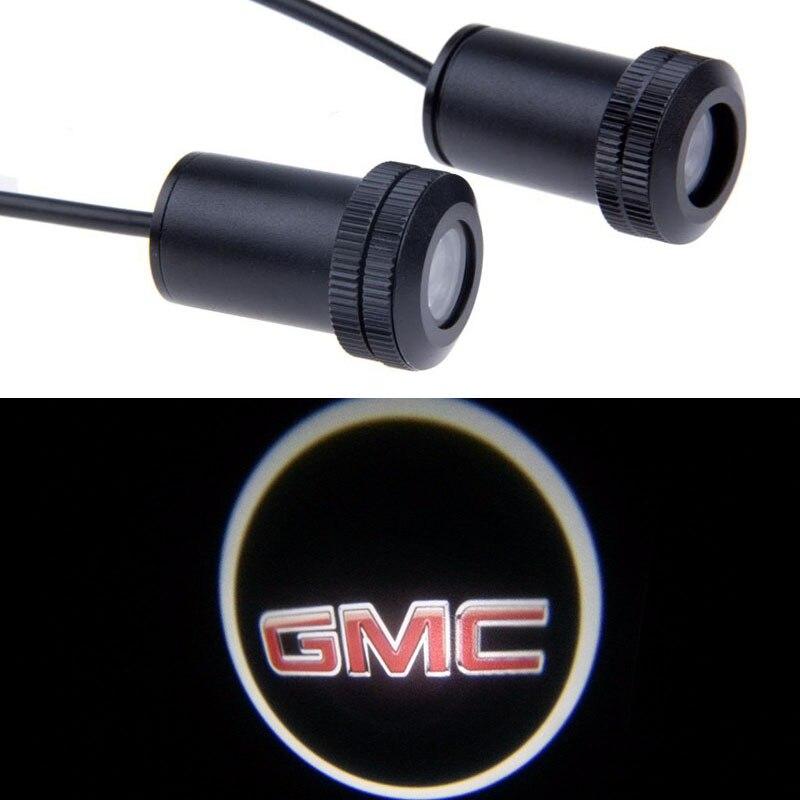 2pcs Ghost Shadow Logo welcome Car LED Door Light Laser Courtesy Slide Projector logo Emblem light For GMC