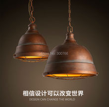 Ретро чердак кованого железа металла абажур люстры висит кулон творческий кафе промышленное освещение