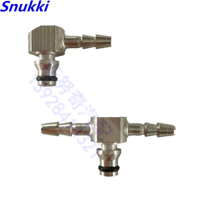 Tipo t conector da tubulação do refluxo do óleo do retorno do injetor do trilho t conector do t do metal para bosch 110 séries injector 5 pces a lo