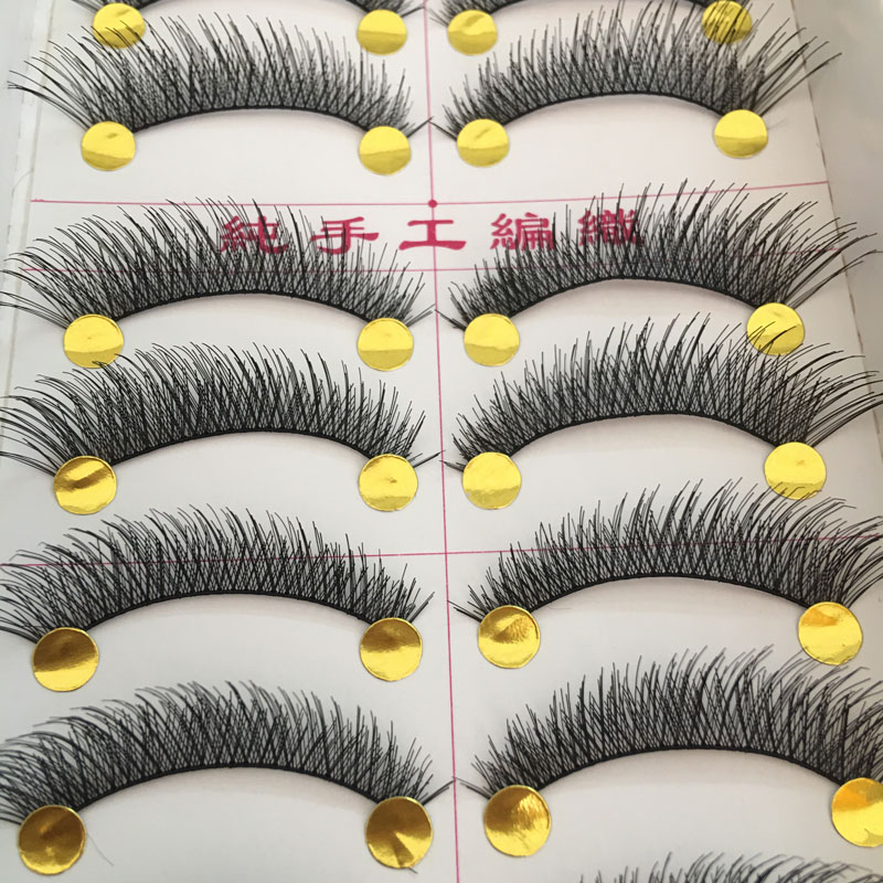 50Pairs Thick Long Eyelashes Makeup False Eyelashes Nautral Handmade Eye Lashes Extension Makeup Tools Fake Eyelashes Maquiagem