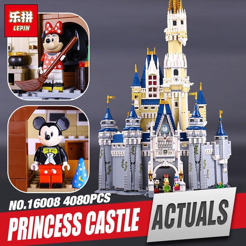 LEPIN 16008 Cinderella Princess Castle City 4080pcs Model Educational Building Block Kid Toys Gift Compatible 71040