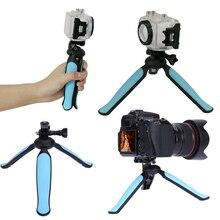 2017 Новый Легкий Мини-Штатив Портативный Выемка Для Рук Камеры Mini Travel Tripod с Вооруженными Стент для Gopro Цифровой Камеры Видеокамеры