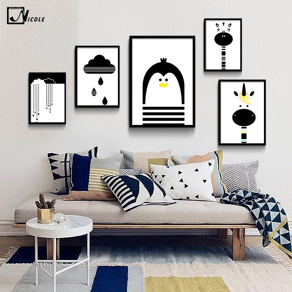Schilderijen zwart wit koop goedkope schilderijen zwart wit loten van chinese schilderijen zwart - Deco schilderij slaapkamer kind ...