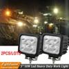Pair Of 12V 24V 50W LED Tractor Work Light 5inch Square Led Driving Off Road Light