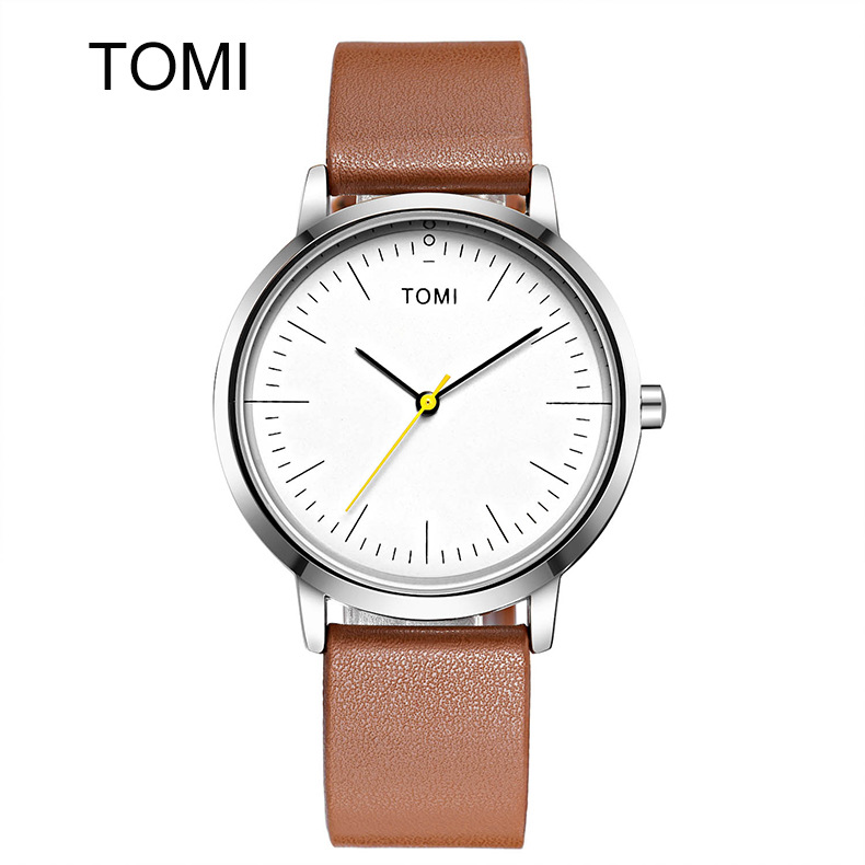 Top Famous Brand Men Simple Leather Watch Minimalist Ultra Thin The Retro Horse Watches Men's Leather Band Quartz Wristwatch classic simple star women watch men top famous luxury brand quartz watch leather student watches for loves relogio feminino