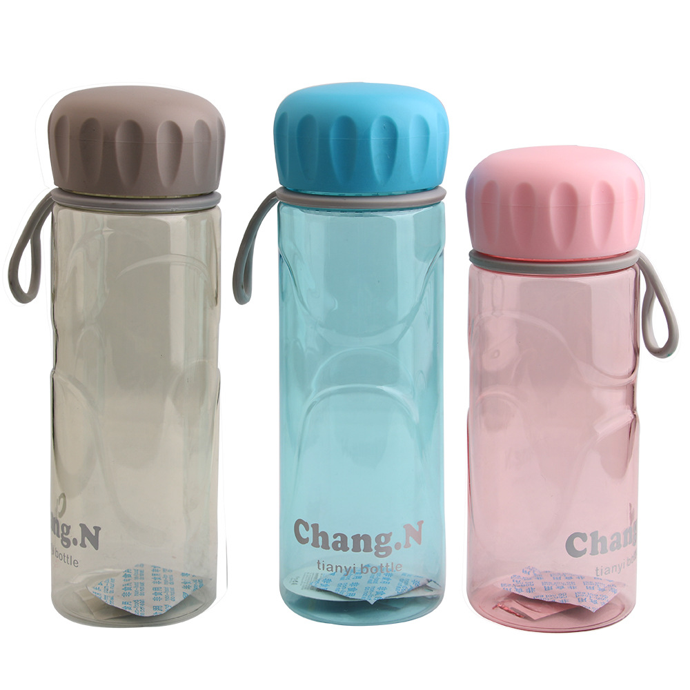 Plastic Leak Proof  Sports Water Bottle  Portable Fashion Drinkware Tour Bottles(China)