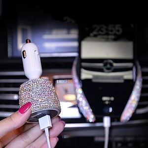 Image 3 - พวงมาลัยผู้หญิงที่เขี่ยบุหรี่รถเนื้อเยื่อกล่อง Rhinestone อุปกรณ์เสริม Rhinestone คริสตัลเครื่องประดับรถ