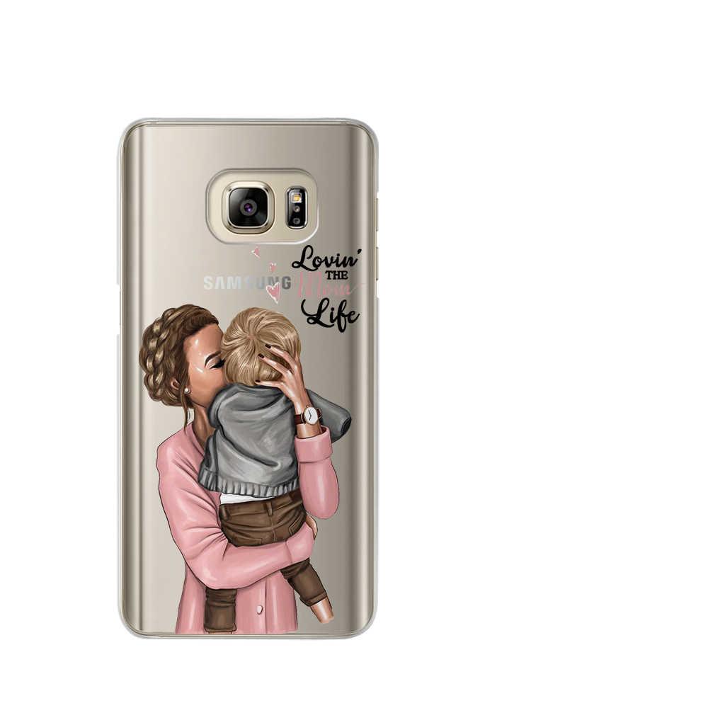 ماما الطفل الماوس سوبر أمي فتاة الهاتف حقيبة لهاتف سامسونج غالاكسي A7 2018 A6 A8 A5 A3 A9 A10 A20 A30 A40 a50 A70 J3 J5 J7 2017 كوكه