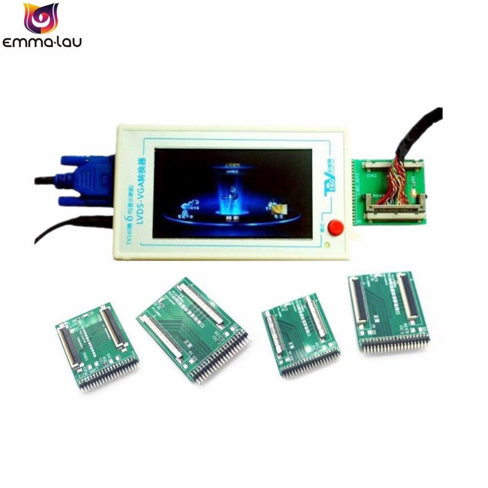 Ufficiale TV160 LVDS Turno Vga (con Schermo Lcd Version) LCD/LED TV Della Scheda Madre Tester Strumento + 5 Adattatore Aerei