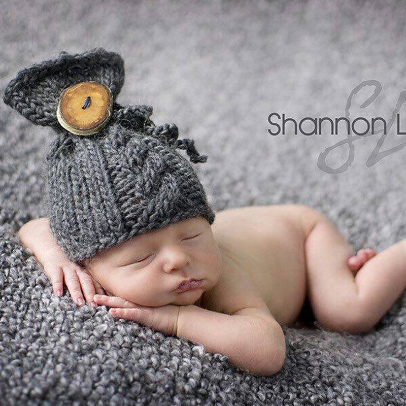 Baby Pointted Ears Bear Hats Newborn Mohair Photography Costume Khawaii Baby Caps Crochet Beanies Infant Photography Accessories