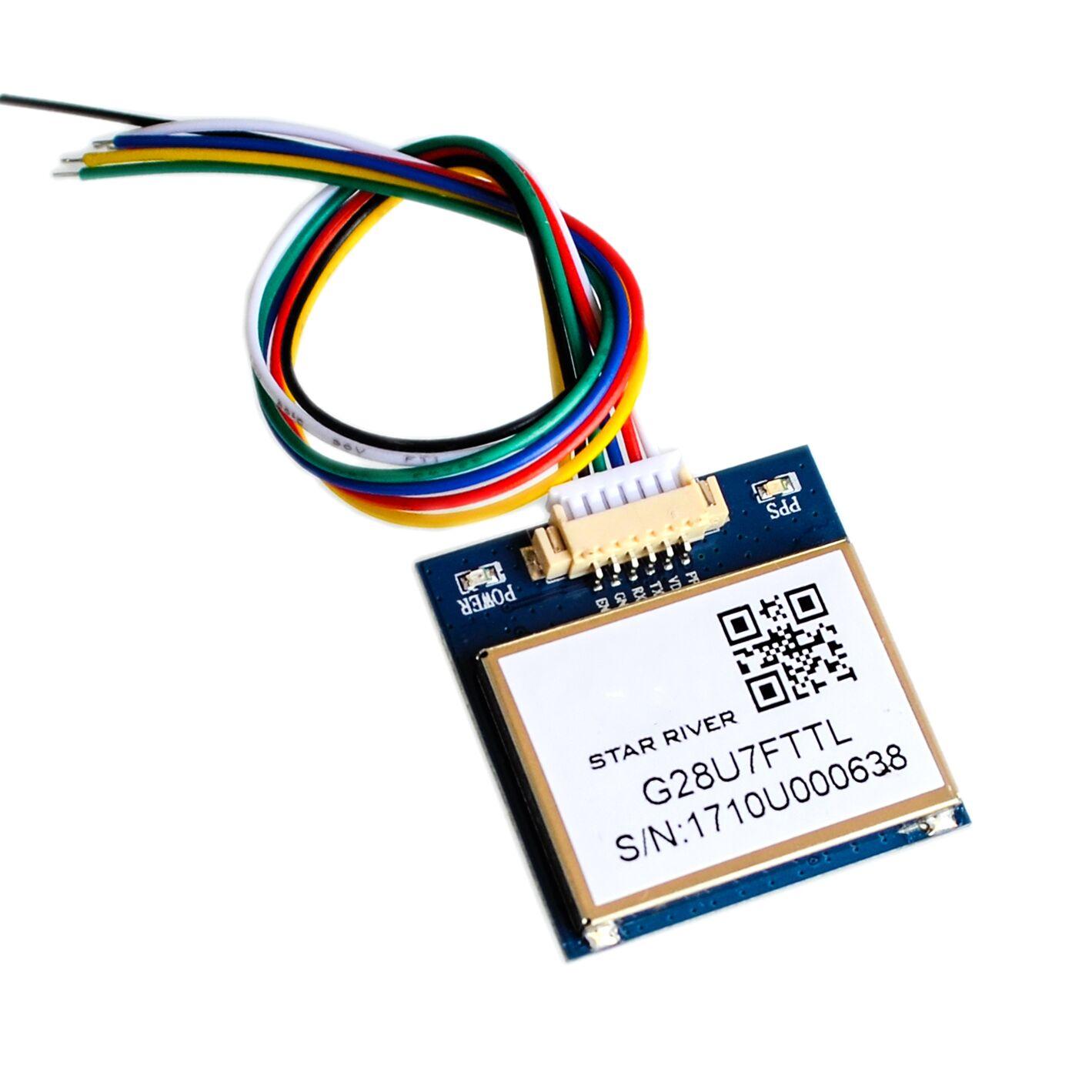 G28U7FTT más VK2828U7G5LF módulo del GPS con la antena TTL 1-10Hz con FLASH aviones modelo del Control de vuelo